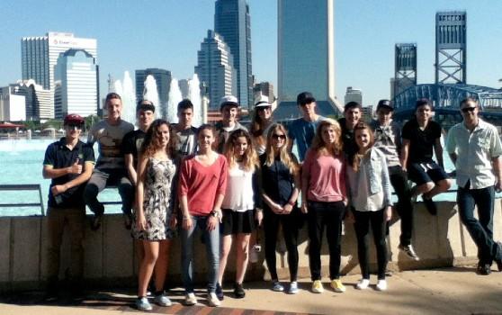 Des élèves du lycée à Jacksonville en Floride - 2014